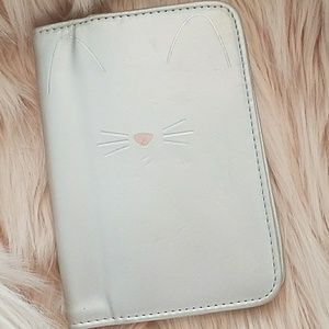 Kitty Cat silver passport holder